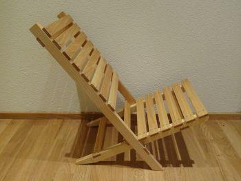sagli produkte ideen f r den werkunterricht campingstuhl r cklehne aus holz. Black Bedroom Furniture Sets. Home Design Ideas